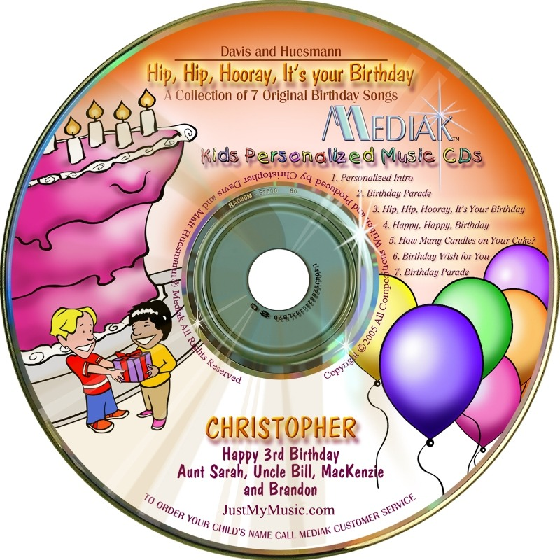 hip hip hooray it's your birthday personalized music cd